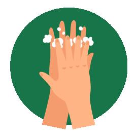 Esfregue entre os dedos