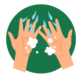 Passe sabão e molhe com água